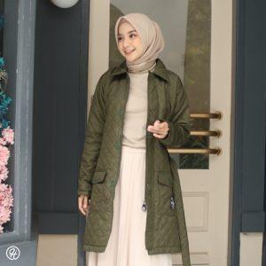 Jaket Untuk Hijaber Agnezia HJ-AGZ-GREEN-XL