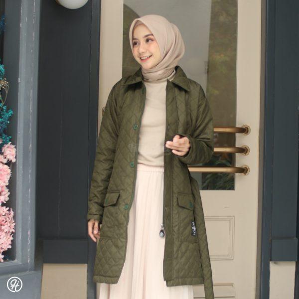 Jaket Hijab Agnezia HJ-AGZ-GREEN-XXL