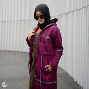 Hijab Jaket Aurelia HJ-AUR-BURGUNDY-XXL