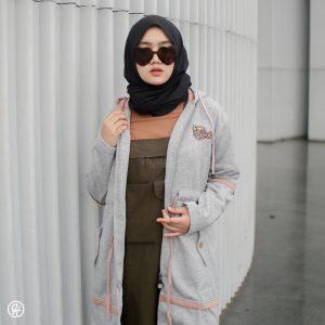 Jaket Hijab Aurelia HJ-AUR-GREY-XXL
