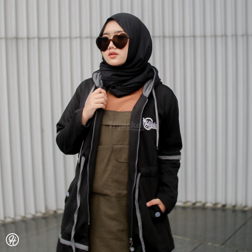 Hijab Jaket Aurelia HJ-AUR-JET-BLACK-XXL