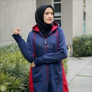Jaket Untuk Hijaber Avia HJ-AVA-NAVY-XXL