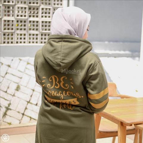 Jaket Hijabers Beautix HJ-BX-MOSSGREEN-XXL