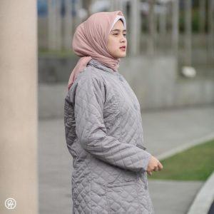 Jaket Untuk Hijaber Belva HJ-BLV-CLOUDGREY