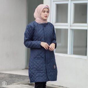 Jaket Hijaber Belva HJ-BLV-INDIGO-BLUE-XL