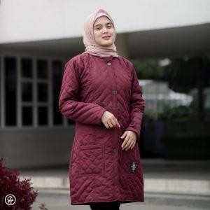Jaket Hijab Belva HJ-BLV-RED-BURGUNDY