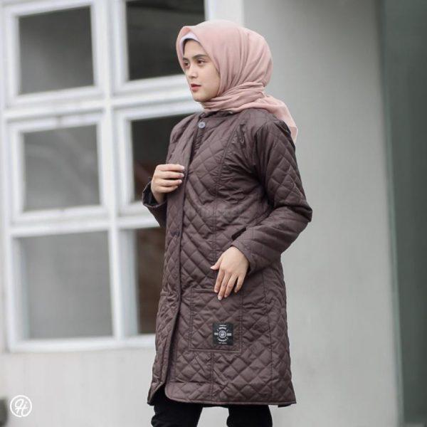 Jaket Hijabers Belva HJ-BLV-SCARLETT-BROWN-XL