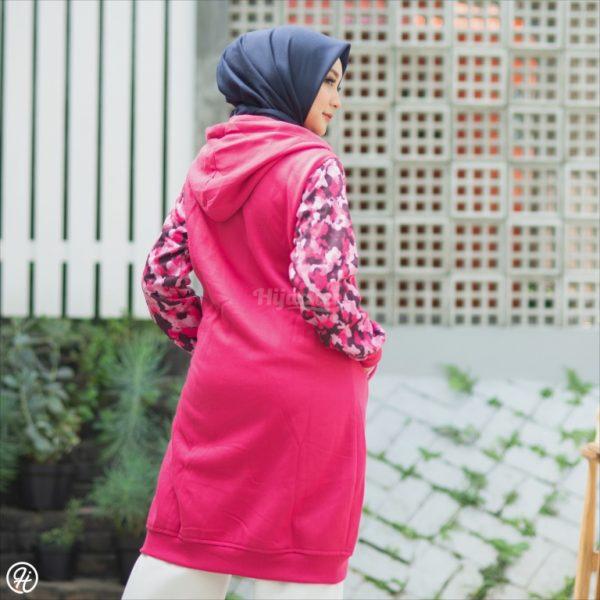 Jaket Hijab Camouflashion HJ-CF-ROSEPINK-XL
