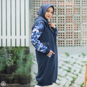 Hijab Jaket Camouflashion HJ-CF-ROYAL-BLUE-XL