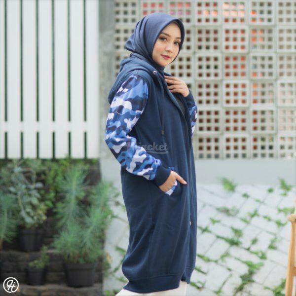 Hijab Jaket Camouflashion HJ-CF-ROYAL-BLUE-XL