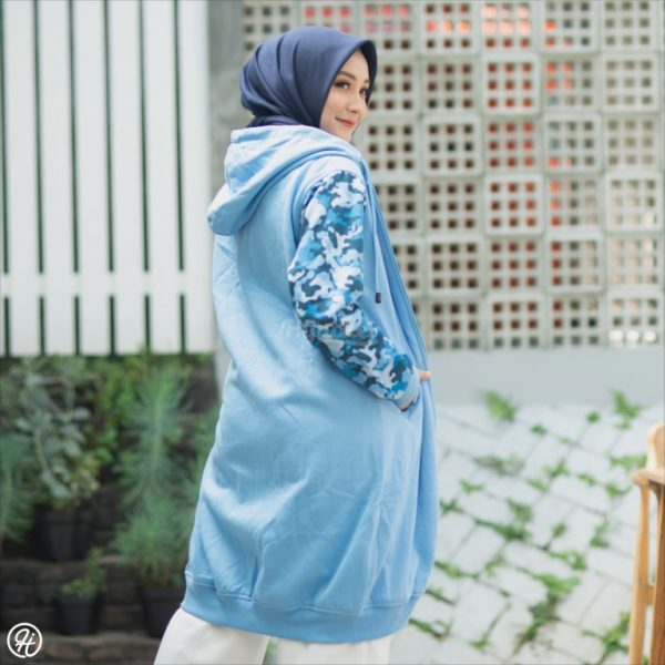 Jaket Hijab Camouflashion HJ-CF-SKY-BLUE-XL