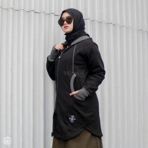 Jaket Hijab Elektra HJ-ELK-BLACK-XL