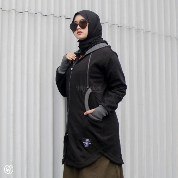 Jaket Hijab Elektra HJ-ELK-BLACK-XXL