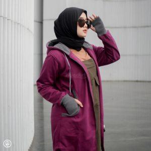 Jaket Untuk Hijaber Elektra HJ-ELK-BURGUNDY-XL