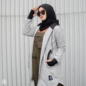 Hijab Jaket Elektra HJ-ELK-GREY-XL