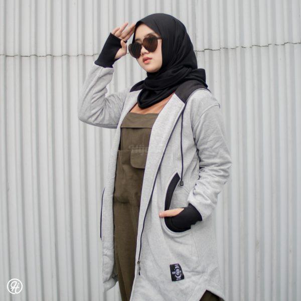 Jaket Untuk Hijaber Elektra HJ-ELK-GREY-XXL
