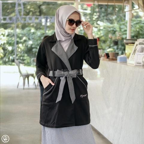 Jaket Hijab Elnara HJ-ELN-RAVEN-BLACK-XL
