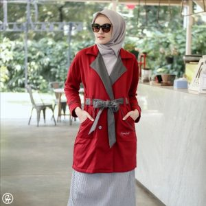 Jaket Untuk Hijaber Elnara HJ-ELN-RUBY
