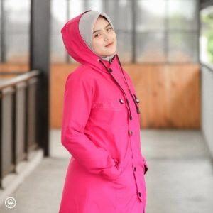 Hijab Jaket Ixora HJ-IXR-DEEP-PINK-XL