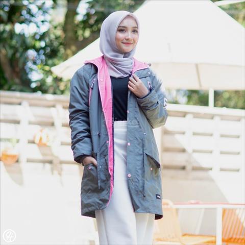 Jaket Hijab Montix HJ-MT-GREY-XXL