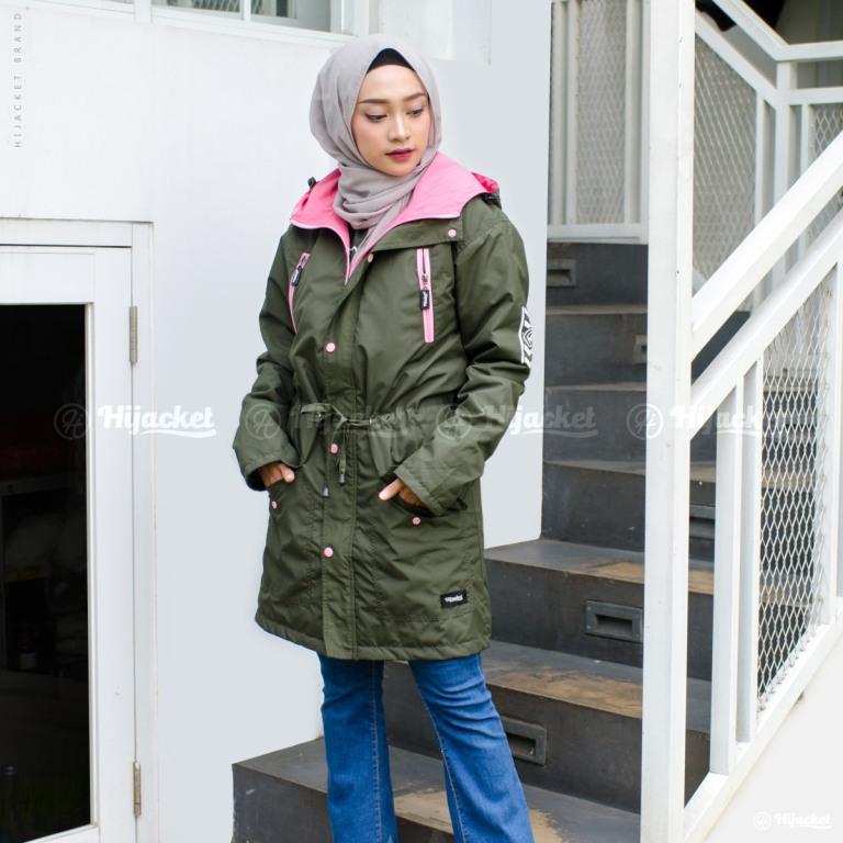 Jaket Hijab Montix HJ-MT-MOSSGREEN-XL