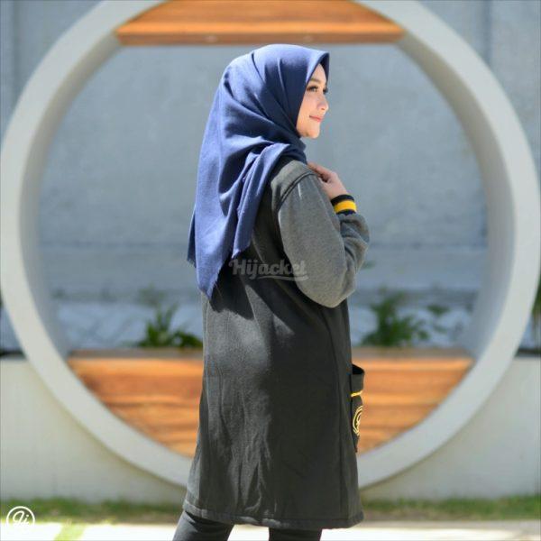 Hijab Jaket Qadira HJ-QD-RAVEN-GREY-XL
