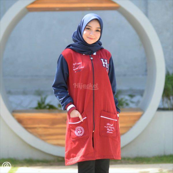 Jaket Hijab Qadira HJ-QD-RUBY-BLUE-XL
