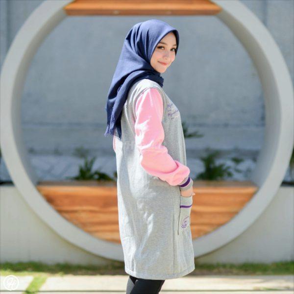 Hijaket Qadira HJ-QD-SKY-PINK-XL
