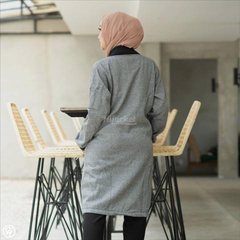 Jaket Untuk Hijaber twistone HJ-TW-CHARCOAL-XL