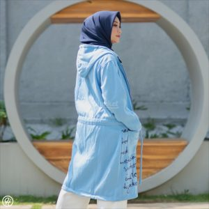 Jaket Untuk Hijaber Urbanisashion HJ-UB-SKY-BLUE-XL