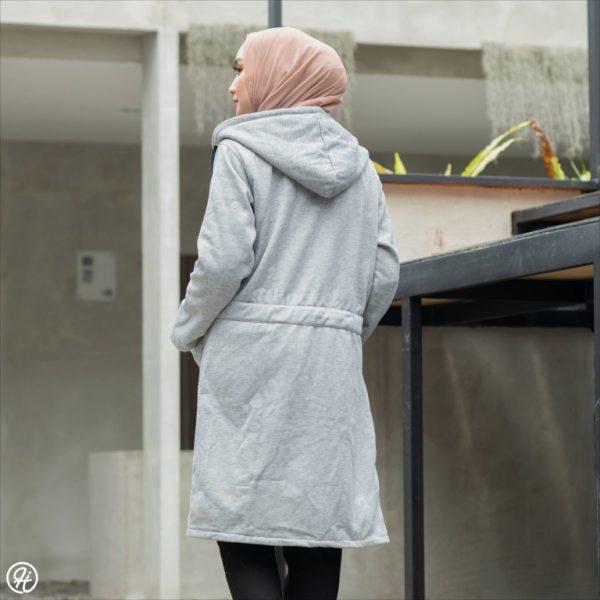 Jaket Hijaber Urbanisashion HJ-UB-SKYGREY-XXL