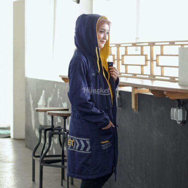 Jaket Hijaber Vendulum HJ-VD-CORA-BLUE-XL