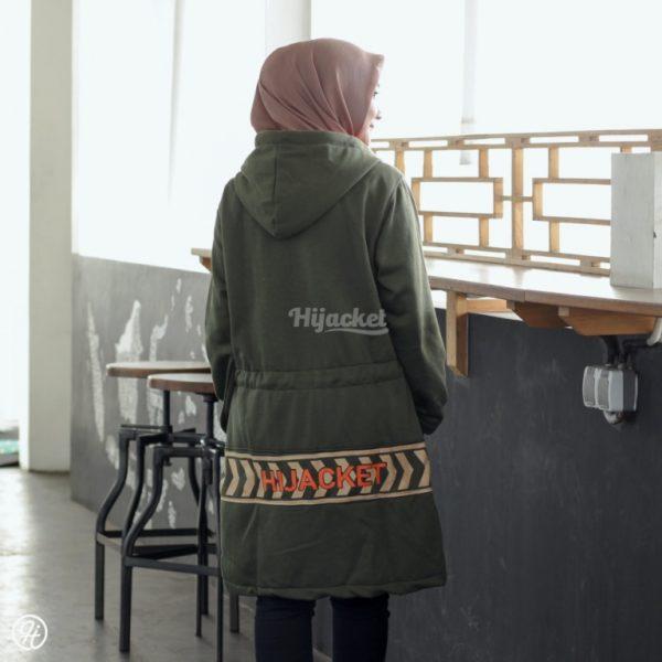 Jaket Hijab Vendulum HJ-VD-OLIVE-GREEN-XL
