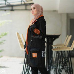 Jaket Untuk Hijaber Vendulum HJ-VD-ONYX-BLACK