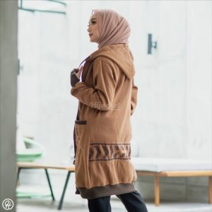 Jaket Untuk Hijaber Yukata HJ-YK-BROWN-XXL