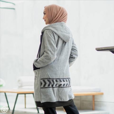 Hijab Jaket Yukata HJ-YK-GREY-XXL