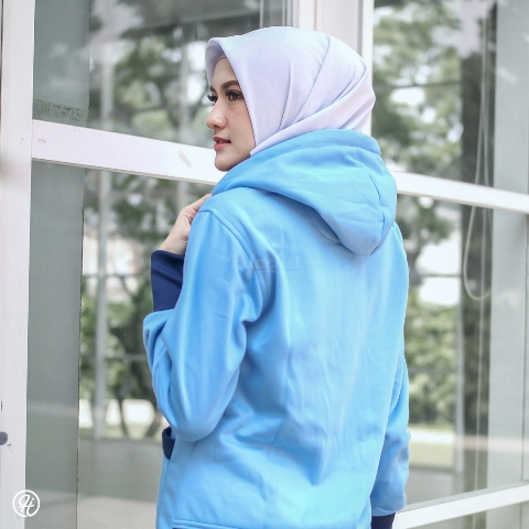 Jaket Untuk Hijaber Yukata HJ-YK-SKY-BLUE-XXL